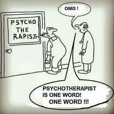 Psychotherapist is one word