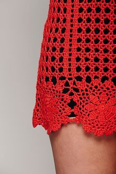 Free People Shamelessly Alive Tunic at Free People Clothing Boutique Crochet Festival Dresses, Crochet Summer Dresses, Crochet Skirts, Crochet Blouse, Knit Crochet, Beach Crochet, Cutwork Embroidery, Handmade Dresses, Vintage Crochet