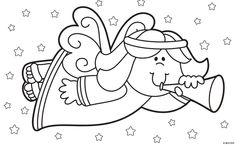 All About Christmas Coloring Pages for Kids / Free Printable Coloring Pages for Kids - Coloring Books Christmas Images, Christmas Colors, Christmas Angels, Kids Christmas, Christmas Crafts, Christmas Recipes, Merry Christmas, Angel Coloring Pages, Colouring Pages