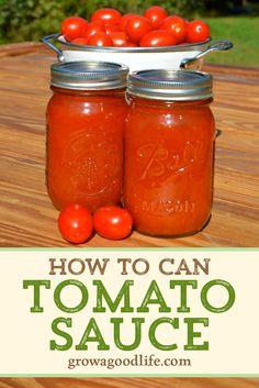 Homemade Tomato Pasta Sauce, Italian Tomato Sauce, Pasta Sauce Recipes, Tomato Sauce Recipe, Canned Tomato Sauce, Homemade Sauce, How To Make Tomato Sauce, Tomatoe Sauce, Pork Recipes