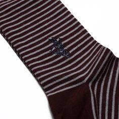Prvke socks. The Stripes - Red/Grey. Be bold. www.prvke.com