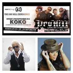 #SoulDOutShowNews: FDJ Presents Dru Hill [@druhill4real] Live In Concert Plus Nivea [@missnnash] | 14th Sept '14 | KOKOs, London