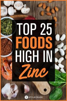 Are you hitting your zinc quota every day to avoid deficiency? Here's a list of top 25 foods high in zinc that you should include in your diet. What Foods Have Zinc, What Foods Contain Zinc, Foods High In Zinc, Zinc Rich Foods, Zinc Rich Fruits, Foods With Zinc, Healthy Food List, Healthy Eating, Healthy Foods