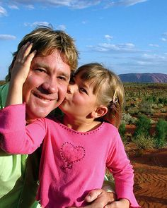 Steve Irwin Crocodile hunter and daughter Bindi Irwin