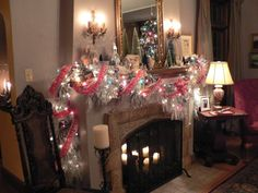 Image detail for -christmas decorating ideas , christmas mantels , christmas ...beautiful garland