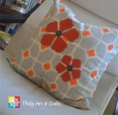 Throw Pillow Cover Pillow Cushion Cover by PhillyArtandCrafts, $30.00