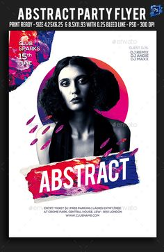 Abstract Party Flyer #electro #nyc Download : https://graphicriver.net/item/abstract-party-flyer/21383201?ref=pxcr