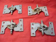"""Acme Patented Shutter Hinges 2 left 2 right  1 1/2"""" 88-375"""