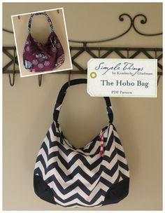Hobo Bag ~ Simple Things PDF Pattern