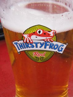 Carnival's signature beer - Thirsty Frog Red Carnival Liberty Cruise, Carnival Breeze, Badge, Beverages, Water Bottle, Beer, Spaces, Cool Stuff, Root Beer