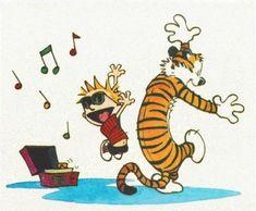 Calvin and Hobbes Dancing