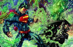 Superman lucha Batman y Batman muere
