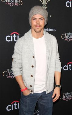 Derek Hough arrives The Grove's 11th annual Christmas Tree Lighting Spectacular in Los Angeles on Nov. 17, 2013.