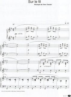 Piano Sheet, Sheet Music, Note, Yann Tiersen, Sons, Piano Sheet Music, Music Sheets
