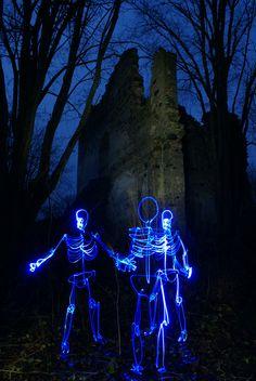 glow in the dark skeletons!