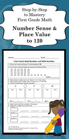 Number Sense and Place Value daily practice sheets for first grade and special education students