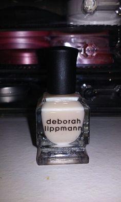 Deborah Lippmann Mini Polish in Baby Love, painted one nail with it.