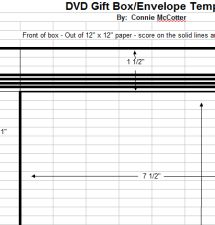 Make These Blank, Easily Decorated Envelope Templates Your Next Crafts Project: DVD Envelope
