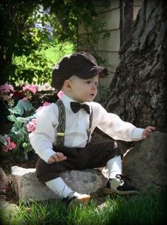 Knickers, suspenders, and bow tie + hat! DapperLads - boys clothing