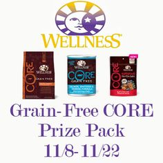 Wellness Grain-Free CORE Prize Pack #Giveaway Ends 11/22 @wellnesspetfood - Michigan Saving and More