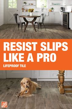 Lifeproof tile from The Home Depot is the ideal flooring for any room in your home. This flooring is slip-resistant, scratch-resistant and stain-proof… – Flooring Designs Quirky Home Decor, Cheap Home Decor, Concrete Walkway, Wood Look Tile, Tile Wood, Professional Landscaping, Farmhouse Flooring, Cheap Houses, Stained Concrete