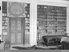 Biblioteket i Salsta slott, Vattholma, Lena socken, Uppland @ DigitaltMuseum.se