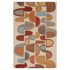 Retro Rug 5'3x8 Beige now featured on Fab.