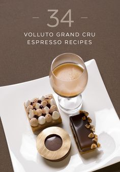 Explore the infinite possibilities that Volluto Grand Cru offers with this collection of gourmet coffee recipes. This French-inspired Cafè Gourmand setting includes a warm, flakey pastry dough filled with rich chocolate and chestnut ganache. Serve alongside light, fluffy meringues, dollops of black currant jam, and a steaming cup of Volluto Grand Cru.