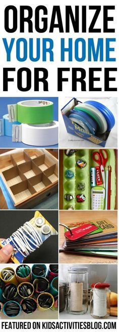 25 Ways to Organize Your Home For Free   These home organizing ideas, hacks and tips don't cost money -- in fact, many of them are upcycling things you may have in your recycling bin at this very moment. #recyclingfacts