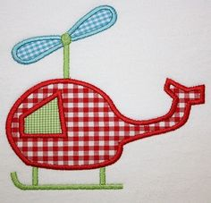 143 Helicopter Machine Embroidery Applique by AppliqueCafeDesigns, $4.00