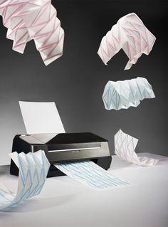 Industrial Designer Creates Origami Printer