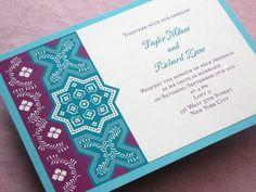 Imbue You Moroccan wedding invitation