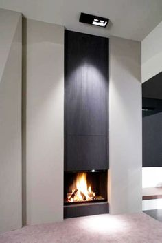 A fireplace is an architectural structure designed to contain a fire and used for the relaxing ambiance. Here are images for corner fireplace ideas. Contemporary Fireplace Designs, Contemporary Architecture, Contemporary Interior, Interior Architecture, Modern Fireplaces, Contemporary Stairs, Contemporary Building, Contemporary Wallpaper, Contemporary Chandelier