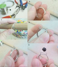 Wire Ring Tutorial by ~Dj-0 on deviantART @Aimée Gillespie Lemondée Gillespie Lemondée Gillespie Lemondée Gillespie Palacios - may have the solution for our vintage buttons!