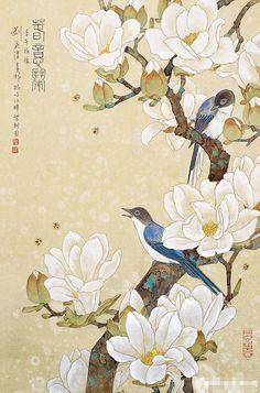 女画家刘菊清工笔作品欣赏 - 春意闹