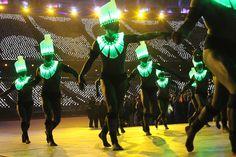 Roupas da moda: iluminação LED para desfilar as cores da bandeira brasileira nos Jogos OlímpicosTecnoArteNews
