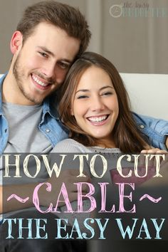 How to Cut Cable the Easy Way - The Busy Budgeter Ways To Save Money, Money Tips, Money Saving Tips, How To Make Money, Money Savers, Tv Without Cable, Cable Tv Alternatives, Tv Options, Cut Cable