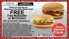 50 Best Mcdonalds Coupons Images Mcdonalds Coupons Food Coupons