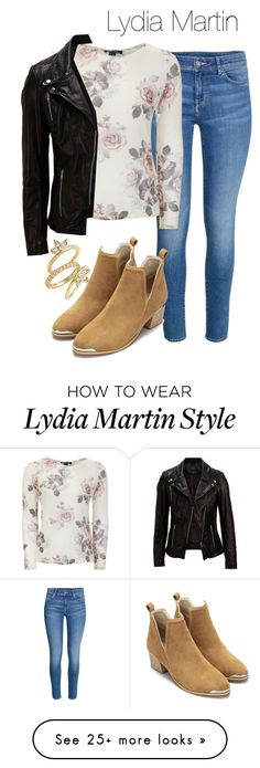 """Lydia Martin outfit with jeans - tw / teen wolf"" by shadyannon on Polyvore featuring Luv Aj and SELECTED"