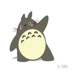 Adorable Totoro gifs from australian animator - Album on Imgur