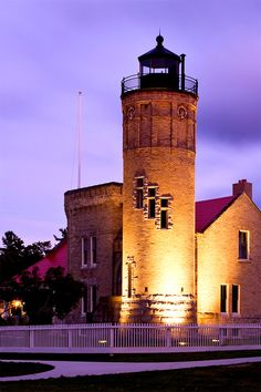 OLD MACKINAC POINT LIGHTHOUSE-the best fudge in the world is made on this island