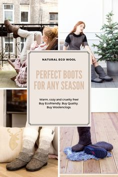 Cozy natural from wool. Your feet will be happy whatever you do. These are by me and my husband and nothing stronger than olive oil soap and hot water is used in the process. We deliver them in packaging with no plastic Felt Boots, Hygge Life, City Outfits, Autumn Aesthetic, Outdoor Fashion, Warm Boots, Felted Slippers, Warm Blankets, No Plastic