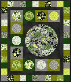 = free pattern = Circles and Squares designed by Airborne Heirlooms for Fabri-Quilt, Inc.