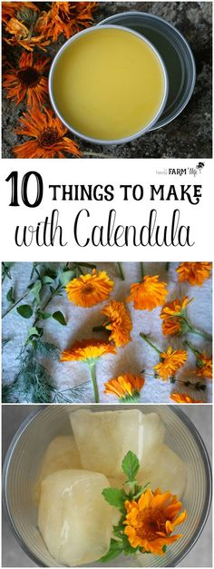 Here are 10 pretty and useful things that you can make with calendula flowers.