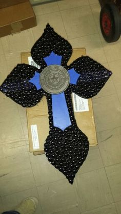 Cross......Thin blue line......