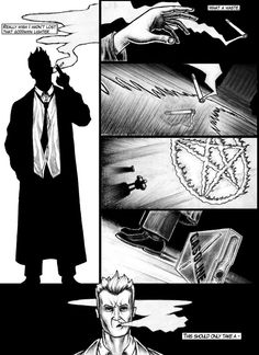 This is page 1 of a continuing series. here is a link to [link] PLEAS CRITIQUE John Constantine hellblazer Constantine Comic, Matt Ryan Constantine, Constantine Hellblazer, Dc Comics, Anime Comics, Hellblazer Comic, Comic Character, Character Design, Modern Magic