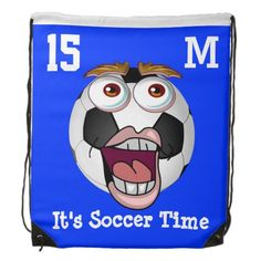 Shop Funny PERSONALIZED Drawstring Backpack for Boys created by LittleLindaPinda. Personalize it with photos & text or purchase as is! Soccer Gifts, Soccer Stuff, Little Linda, Boys Backpacks, Soccer Coaching, Drawstring Bags, All Gifts, Soccer Ball, School Bags
