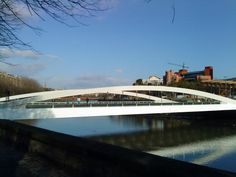 Lehendakari Aguirre Bridge over Urumea River, San Sebastián, Spain
