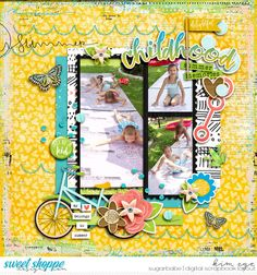 Digital scrapbook layout using Summer Delights by Traci Reed and Studio Basic Designs (found at Sweet Shoppe Designs)