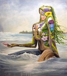 How nature makes me feel. Kunst Inspo, Art Inspo, Art Pop, Psychedelic Art, Fantasy Kunst, Fantasy Art, Dope Kunst, Dope Art, Mother Earth